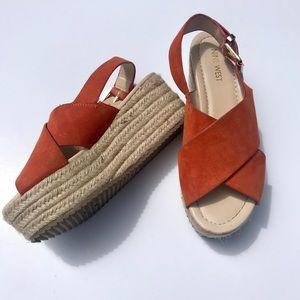Nine West Womens Platform Sandal